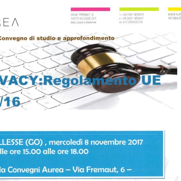 PRIVACY: Regolamento UE 679/16